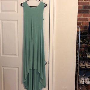BCBG high low dress, light teal